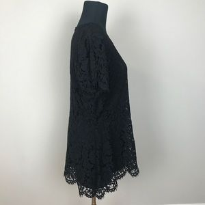 Isaac Mizrahi Tops - ISAAC MIZRAHI LIVE Black short sleeved lace blouse
